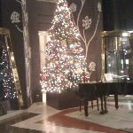 The piano and the Christmas tree at lobby