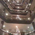 The lobby for Christmas time