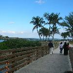 nice bridge with view of intercoastal & ocean