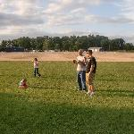 Big open space to run and play before the movie starts!