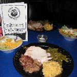 Delicious bbq dinner, Mosley Street Melodrama, Wichita, KS