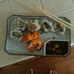 Actually, that's my own plate. But look at that delicious sushi!