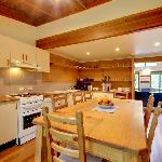 Spacious guest kitchen
