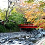 Red Bridge over Katsura River