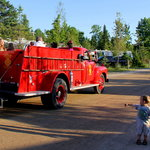 Free Firetruck and Hayrides - kids love it!