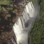 The mighty falls from a helicopter