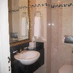 Small powder room and toilet