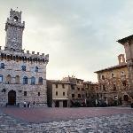 La piazza di Montepulciano