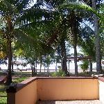 View of beach from veranda