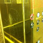 elevators full of scraps with bad words