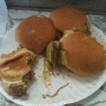 "Plate full of burgers, ""before"""