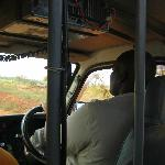Archy, our tour guide, driving and teaching along the way!