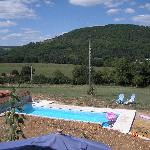 The pool and view along the valley