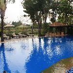 Pool facing the river
