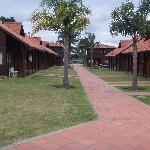 Vista panorámica de los bungalows