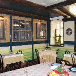 prima sala del rist L'Armistizio1848 Salasco Vc