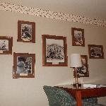 Historical photos in room