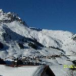 View from the hotel to Warth and Oberlech