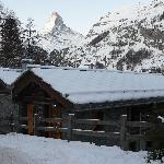 Our chalet and its amazing backdrop