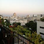 great view of tel aviv roof deck