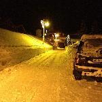 Chemin d'accès en hiver