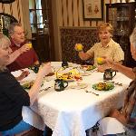 Share breakfast with old or new friends!