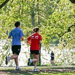 Enjoy a walk or jog at Green Lake, right across the street