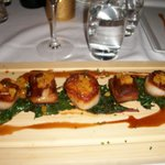 Pork belly and sea scallops