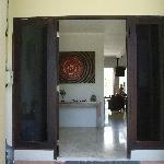 looking inside from front door