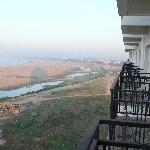 View from balcony (Mekong in dry season)