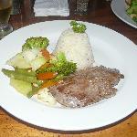 Segundo plato cena en el hotel