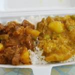 Lecker kreolische Stew/Curry-Kombination