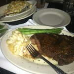 Best ribeye I've ever tasted!! Lobster Mac and Cheese was divine!