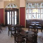 The York Tap in the station, spacious, comfortable and warm
