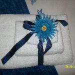 The beautifully presented towels