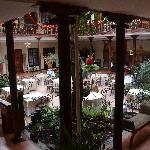 Atrium and restaurant