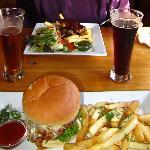 Kiwi Burger and Lamb