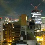 窓から見る夜景(山手、京浜東北、中央線が交わる)