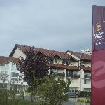 Hotel sign near entrance