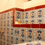 Pretty tiles in the shower