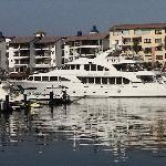 One of the many beautiful yachts
