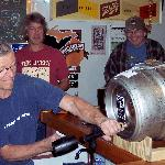 Small batch 'firkin' being tapped by the Brewer!