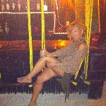 hanging around at the bar