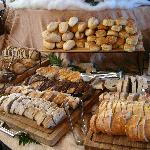 Bread selection at Sunday buffet
