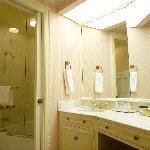 large and elegant marbled washroom