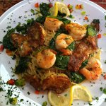 The Shrimp Capresse special - sauteed shrimp and lightly battered artichoke hearts, DELICIOUS!