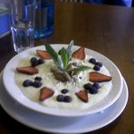 Swiss Bircher Muesli fantastic presentation and taste