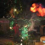Fire Eaters Performed On Christmas Day