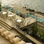 Miramar: the beach and terrace restaurant