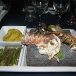 lobster on the rocks